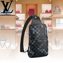 Louis Vuitton DAMIER GRAPHITE Other Check Patterns Street Style Leather