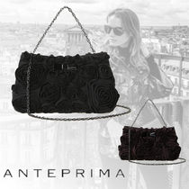 ANTEPRIMA Suede 3WAY Plain Party Style Shoulder Bags