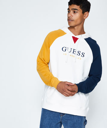 Guess Hoodies Pullovers Long Sleeves Cotton Hoodies 2