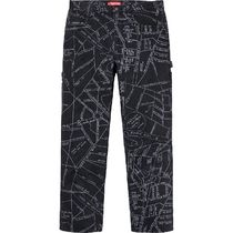 Supreme Unisex Sweat Street Style Collaboration Logo Bottoms