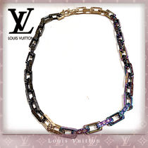 Louis Vuitton MONOGRAM Street Style Chain Silver Necklaces & Chokers