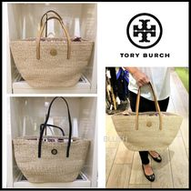Tory Burch A4 Straw Bags