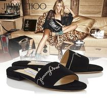 Jimmy Choo Open Toe Casual Style Suede Espadrille Shoes