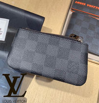 Louis Vuitton DAMIER GRAPHITE Leather Keychains & Holders