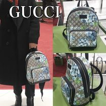 GUCCI Flower Patterns Backpacks
