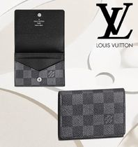 Louis Vuitton DAMIER GRAPHITE Unisex Leather Card Holders