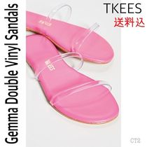 TKEES GEMMA Rubber Sole Casual Style Plain Leather Sandals
