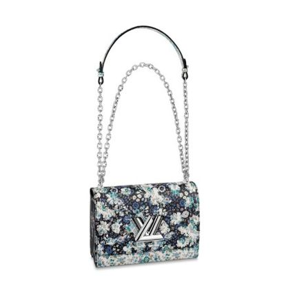 Louis Vuitton Handbags Flower Patterns Blended Fabrics 2WAY Chain Leather 2