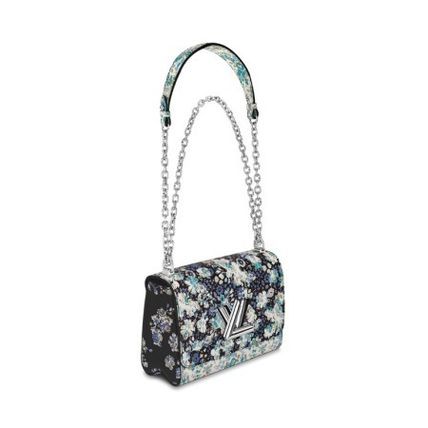 Louis Vuitton Handbags Flower Patterns Blended Fabrics 2WAY Chain Leather 3