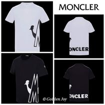 MONCLER Crew Neck Pullovers Cotton Short Sleeves Crew Neck T-Shirts