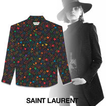 Saint Laurent Star Silk Long Sleeves Shirts & Blouses