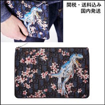 Christian Dior Flower Patterns Unisex Street Style Clutches