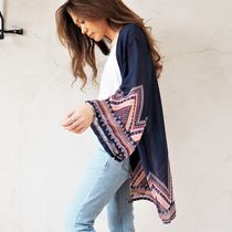 Tropical Patterns Casual Style Cardigans