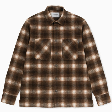 Carhartt Other Check Patterns Street Style Long Sleeves Cotton