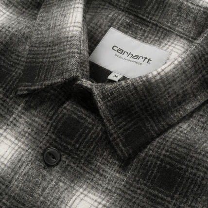 Carhartt Shirts Other Check Patterns Street Style Long Sleeves Cotton 9