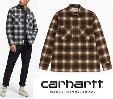Carhartt Shirts Other Check Patterns Street Style Long Sleeves Cotton