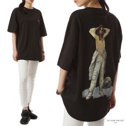 Crew Neck Cropped Cotton Long Oversized T-Shirts