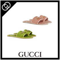 GUCCI Unisex Street Style Plain Shower Shoes Shower Sandals