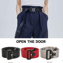 OPEN THE DOOR Unisex Plain Belts