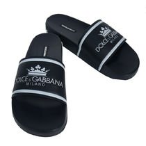 Dolce & Gabbana Unisex Street Style Leather Shower Shoes Shower Sandals