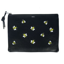 Christian Dior Unisex Other Animal Patterns Leather Clutches