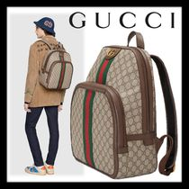 GUCCI GG Supreme Monogram Canvas Blended Fabrics Street Style A4 2WAY