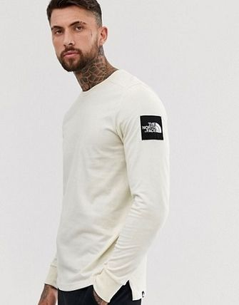 THE NORTH FACE Long Sleeve Crew Neck Street Style Long Sleeves Plain Cotton 6