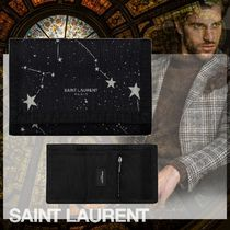 Saint Laurent Star Nylon Street Style Folding Wallets