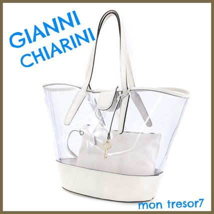 Plain Crystal Clear Bags PVC Clothing Elegant Style Totes