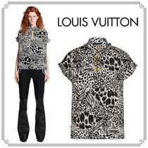 Louis Vuitton Silk Other Animal Patterns Short Sleeves Elegant Style