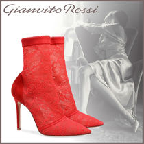 Gianvito Rossi Suede Elegant Style High Heel Boots