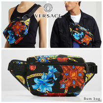 VERSACE Flower Patterns Unisex Blended Fabrics Street Style 2WAY