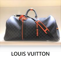 Louis Vuitton DAMIER 2019-20AW KEEPALL BANDOULIÈRE 45 gray free boston bag