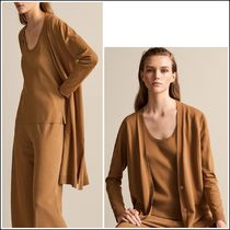 Massimo Dutti Long Sleeves Plain Long Elegant Style Cardigans