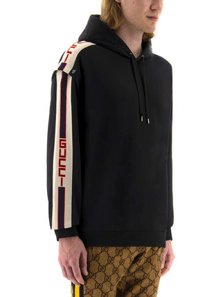 GUCCI Hoodies Pullovers Unisex Sweat Long Sleeves Logos on the Sleeves 5