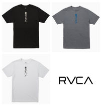 RVCA Crew Neck Pullovers Plain Short Sleeves Crew Neck T-Shirts