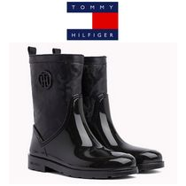 Tommy Hilfiger Camouflage Round Toe Rubber Sole Street Style Plain