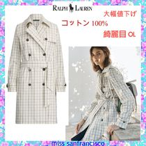Ralph Lauren Other Check Patterns Medium Elegant Style Trench Coats
