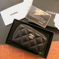 CHANEL TIMELESS CLASSICS Plain Leather Coin Purses