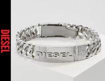 DIESEL Street Style Chain Stainless Bracelets