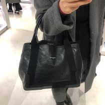 BALENCIAGA CABAS Plain Leather Totes