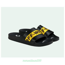 Off-White Street Style Leather Shower Shoes Shower Sandals