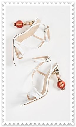 Open Toe Lace-up Blended Fabrics Plain Leather Pin Heels