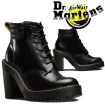 Dr Martens Lace-up Unisex Street Style Plain Leather Chunky Heels