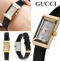 GUCCI Leather Analog Watches