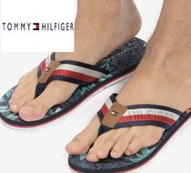Tommy Hilfiger Tropical Patterns Unisex Blended Fabrics Street Style
