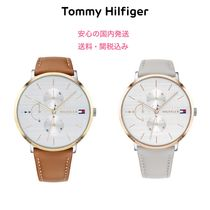 Tommy Hilfiger Leather Round Office Style Digital Watches
