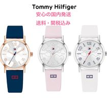 Tommy Hilfiger Casual Style Silicon Round Digital Watches