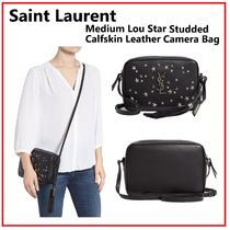 Saint Laurent Niki Casual Style Calfskin Studded Plain Shoulder Bags