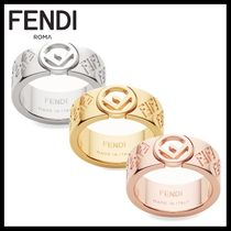 FENDI Unisex Brass Rings
